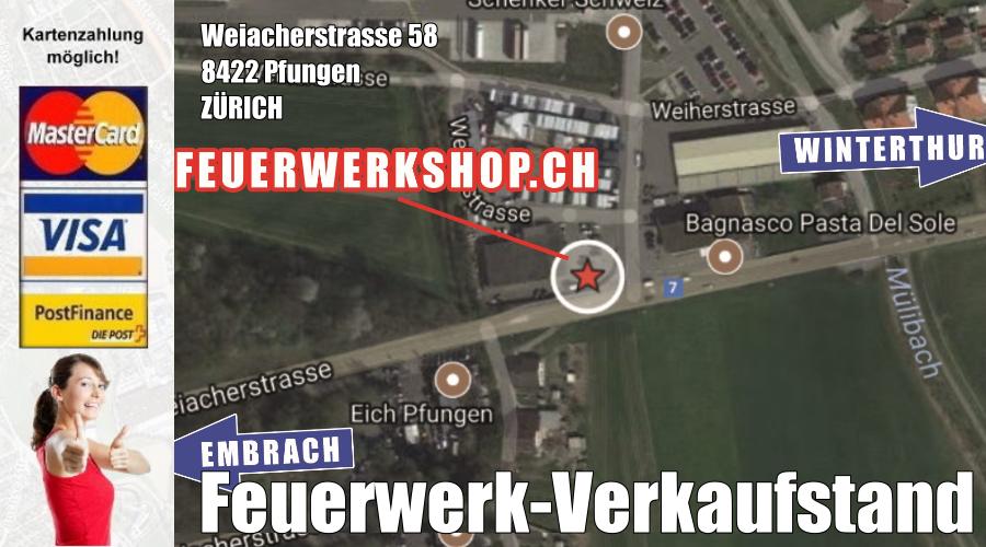 Feuerwerk Direktverkauf in Pfungen (Zürich)