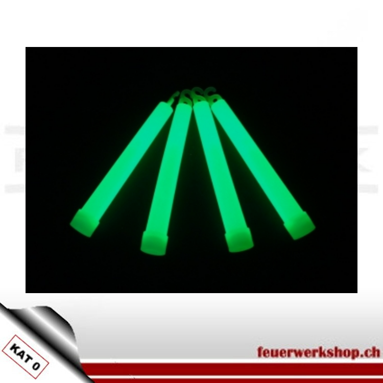 ✔ Leuchtstab 15cm ✔ leuchtet  bis zu 12 Std ✔ Farbe grün ✔ Leuchten chemisch ohne Batterie