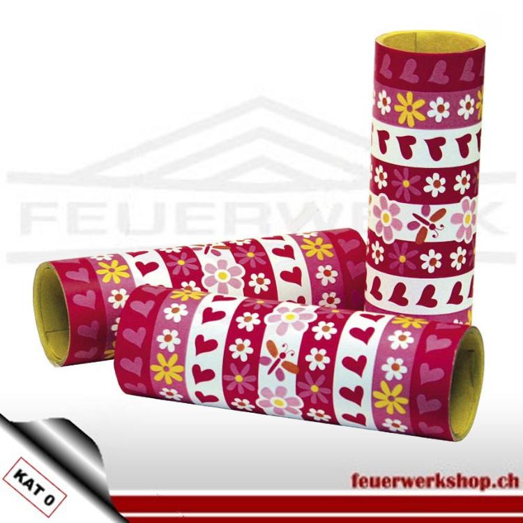 Für Geburtstag, Hochzeit, Fasnacht oder als Girlanden  Röllchenbreite: 14 mm Röllchenlänge: 4 Meter Material: Papier