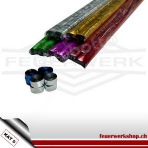 ★ Metallic Luftschlangen 5 m, 0.85 cm breit ★