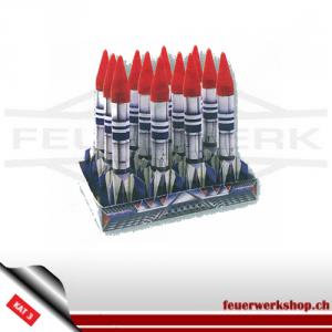 """Feuerwerksbatterie """"Missile Base"""" - mit 12 Raketen"""