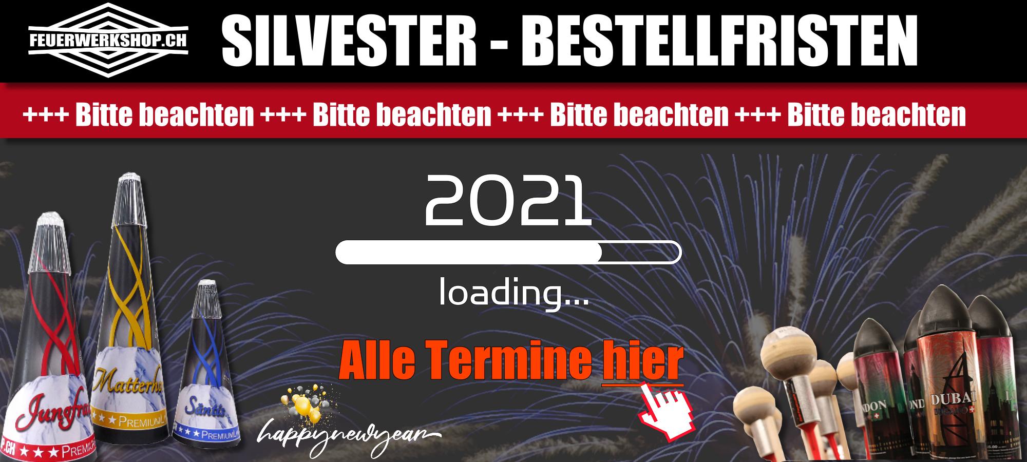 Silvester Feuerwerk vorbestellen - Bitte Bestellfristen beachten!