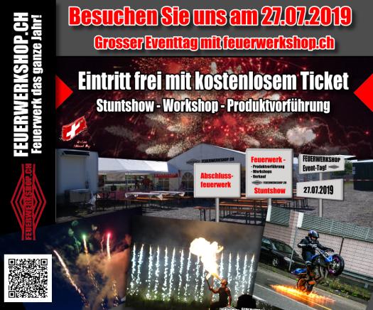 Am 27.07.2019 - Eventtag in Buchs (AG) mit feuerwerkshop.ch