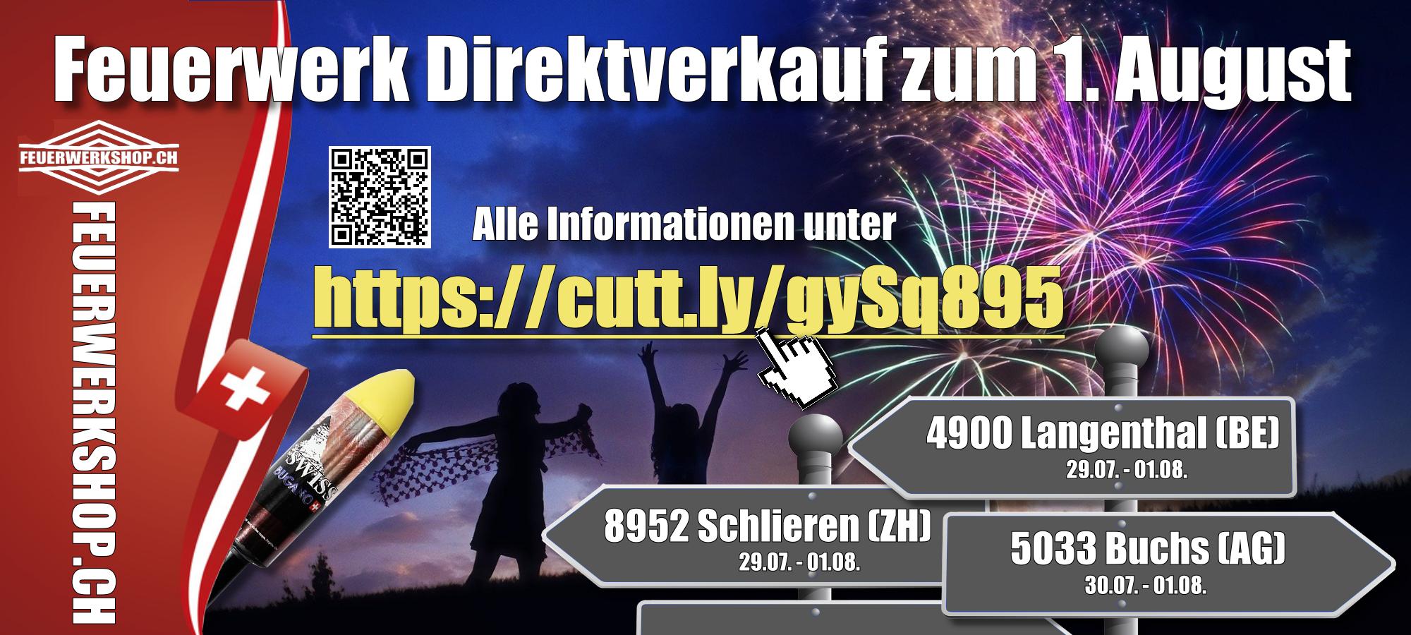 Feuerwerk Direktverkauf in der Schweiz zum 1. August