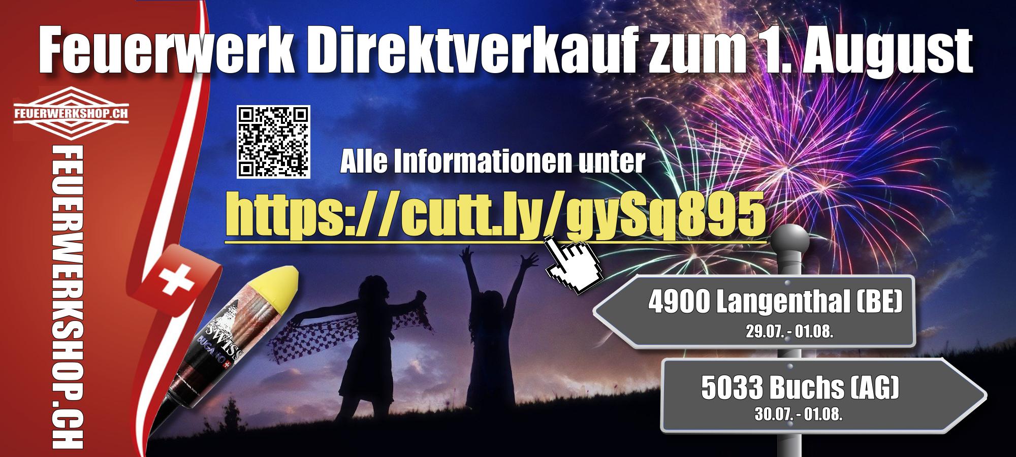 1. August Feuerwerk Direktverkauf vom Pyrotechniker