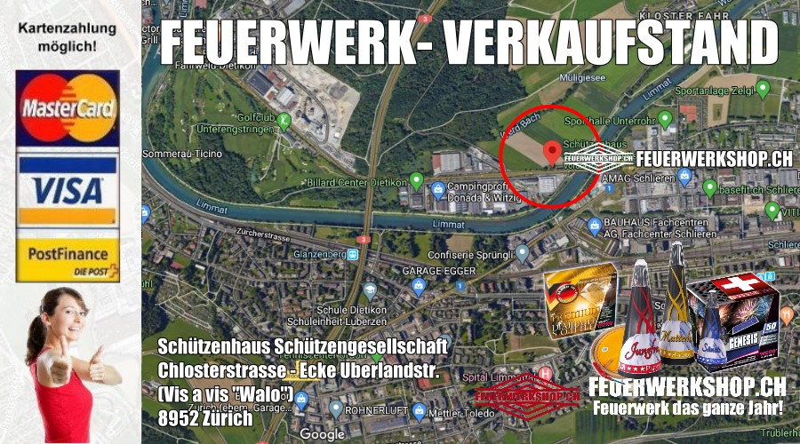 Feuerwerk Direktverkauf zum 1. August in Zürich