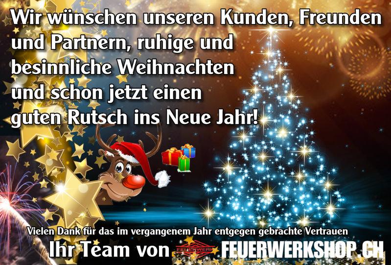 Frohe Weihnachten wünscht feuerwerkshop.ch